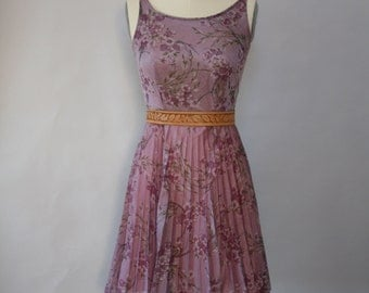 lavender floral tea party dress vintage
