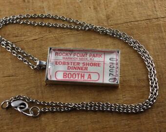 Rocky Point Park Ticket Necklace - Lobster Shore Dinner