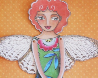 Butterfly fairy Printable Paper doll
