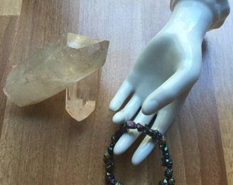 Titanium Coated Citrine Bracelet