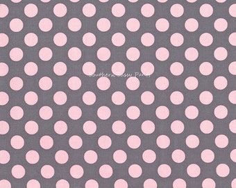 Personalized Toddler Blanket, Gray and Pink Girl Blanket , Personalized Baby Girl Blanket , Polka Dots and Minky Dot Toddler Blanket - 36x40