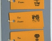 Letterpress Gift Tags, Golden Topiaries