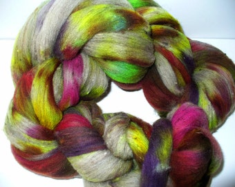 Wool Top Fine Mixed Breed for Hand Spinning or Felting