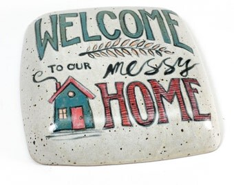 Funny Wall Pillow - Messy Home