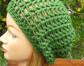 Ladies Slouch hat in Bamboo Silk Blend Mulberry Leaf Green