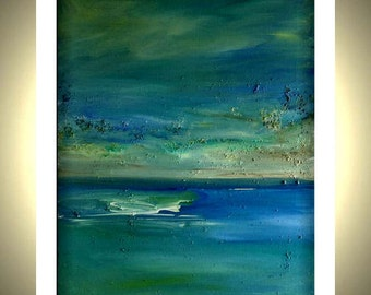 Seascape Abstract Canvas Print from Original Painting  16 X 20