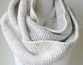 30% OFF Wheat Cream Scarf Rustic Wool Blend Infinity Scarf Loop Women Men CHELSEA Ready to Ship Sister Bestfriend Gift - Autumn Fall Winter