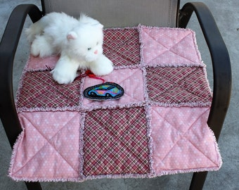 Cat Bed, Cat Blanket, Cat Quilt, Small Dog Bed, Pet Bedding, Pet Accessories, Cat Travel Bed, Colorado Catnip Bed, Cat Mat, Cat Bed With Toy
