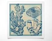 Coral Print- Sea Life Prints- Seashell Decor -Seashell Wall Art- Seashell Prints- Seashell Wall Decor- Ocean Decor- Ocean Nursery Decor