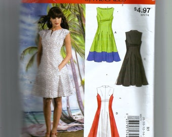 McCall's Misses' /Miss Petite Lined Dresses Pattern 9173