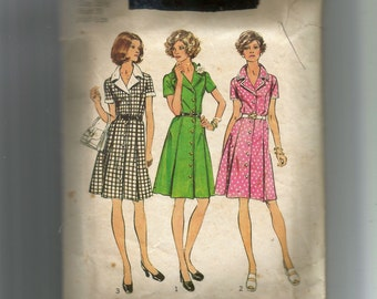Simplicity Misses' Shirtdress in Half-Size Pattern 6157
