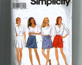 Simplicity Misses' Set of Shorts Pattern 7132