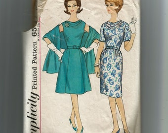 McCall's  Misses' One Piece Dress With Two Skirts and Stole Pattern 4816