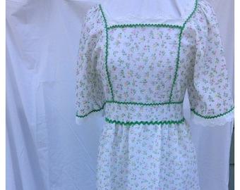 40% FLASH SALE- Flower Child Dress-Vintage Maiden Dress