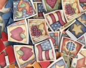 Mosaic Tiles Broken Plate Hand Cut Art Supply China Pieces Tesserae Pieces Heart Flag American