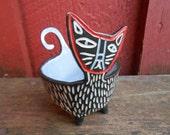 Porcelain Cool Cat Bowl Pot
