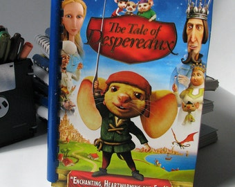 The Tale of Despereaux - Movie - DVD Cover - Notebook - Sketchbook - Handmade - Reuse - Upcycled