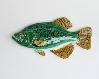 Crappie ceramic fish art decorative wall hanging