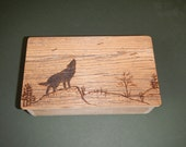 Barnwood WOLF BOX handmade from reclaimed weathered wood - rustic refined