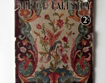 Vintage Period Tapestry Booklet - Needlepoint and Tapestry History and Chippendale Pattern