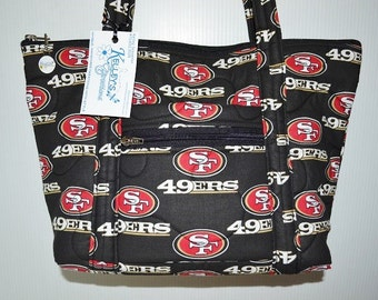 Quilted Fabric Handbag Purse San Francisco 49ers Football NFL