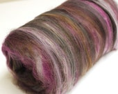 Carded Batt Merino & Bamboo Turkish Delight Fine Merino Wool  XL for Spinning or Felting
