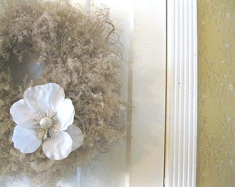 SINEAD WREATH   silk and dried flowers for Spring and year round