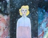 Oil painting portrait - Marjorie - Original art