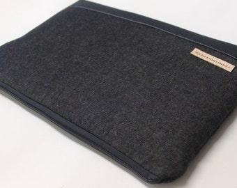 Microsoft Surface Pro 4 Sleeve Surface Book Case Surface Pro 3 Laptop Cover Asus Flip Sleeve - Black Denim