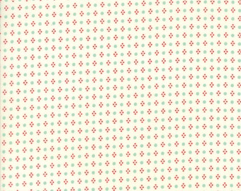 Handmade - Spots in Multi and Cream: sku 55143-22 cotton quilting fabric by Bonnie and Camille for Moda Fabrics - 1 yard