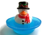 Snowman Duck on a Pond Soap, Christmas Gift for Kids, 1 Available