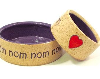 small om nom nom bowl in purple