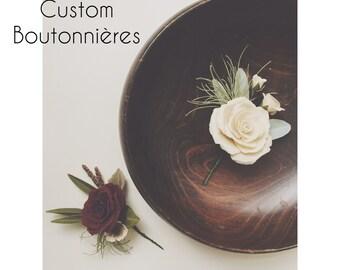 Custom Boutonnieres