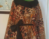 One Size Batwing Diva Animal Print Luxurious Fleece Poncho Cape by im.butterflycreations