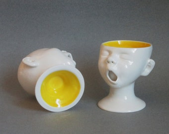 Baby Head Cups, Set of Two, Ready to ship