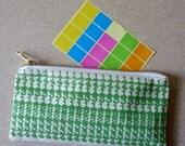 Number Crunch screenprinted fabric zipped pencil case