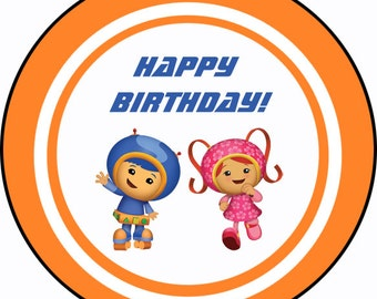 Team Umizoomi theme thank you tags, favor tags, gift tags - set of 24