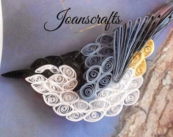White Breasted Nuthatch Ornament design in Quilling