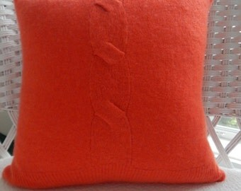 Recycled Cashmere Sweater - Coral Orange
