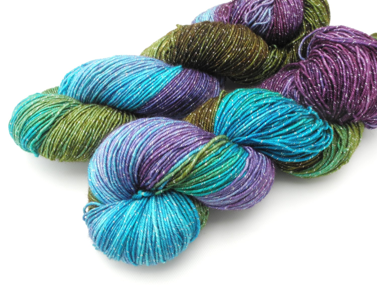 Variegated Yarn : Katatomic Variegated Hand Dyed Yarn Dyed to by DyeabolicalYarns