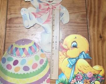 Vintage Dennison cardboard Easter decorations