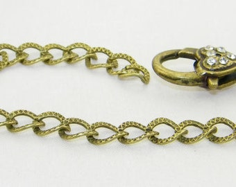 Bronze bracelet for clip on charms - Size 7.75