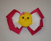 Easter Chick Layered Boutique Bow-DISCOUNT
