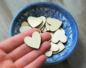 25 . 1 inch Wood Hearts . Rustic Wedding Decor . DIY Rustic Wedding Favors . Unfinished Wooden Hearts . Table Scatter . Party Decor