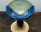 Mountain Sunrise Wine Goblet Wheel Thrown Clay Pottery Ready to ship