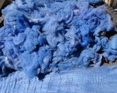 MerinoXCormo Fleece in Blues 4.6 oz - 1 oz is Carded Into Batt - Very soft and luxurious fiber Spinning Felting