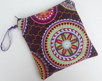 Medallions Double Pocket Purse Size Wet Bag - Perfect for Cloth Menstrual Pads