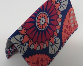 Sample Sale Clearance - Passport Cover Case Holder Travel Cruise Holiday Vacation - Joel Dewberry Flora Fabrics