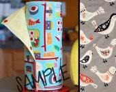 Tree Saver Towels - Birds - Reusable, Eco-Friendly, Snapping Paper Towel Set - Cotton and Terry Cloth
