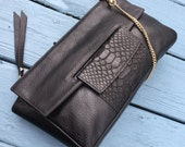 Bags & Purses, Leather Handbag, Leather Clutch, Black Leather Handbag, Shoulder Bag, Leather Crossbody, Leather bag